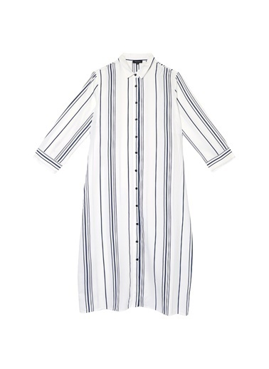 Fabrika Elbise Beyaz